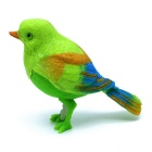 Children's Voice Acoustic Control Bird Toy - Green + Light Yellow