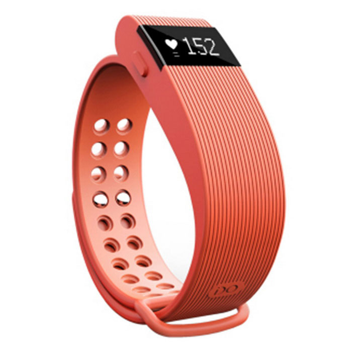 ZS105 Multifunctional Bluetooth V4.0 Smart Bracelet - OrangeSmart Bracelets<br>Form ColorOrangeModelZS105Quantity1 DX.PCM.Model.AttributeModel.UnitMaterialABSShade Of ColorOrangeWater-proofOthers,Daily water resistantBluetooth VersionBluetooth V4.0Touch Screen TypeNoOperating SystemNoCompatible OSAndroid 4.4 and above<br>IOS version 7.1 and aboveBattery Capacity60 DX.PCM.Model.AttributeModel.UnitBattery TypeLi-polymer batteryStandby Time360 DX.PCM.Model.AttributeModel.UnitOther FeaturesMain Features:<br> nRF51822 chip and Bluetooth 4.0 technology: Adopt nRF51822 chip and Bluetooth 4.0 technology that it can quickly and efficiently meet the needs of your life.<br> Heart rate monitoring: Measure the value of your heart rate, let you know about your heart rate during sports.<br> Pedometer / Sleep monitoring / Sedentary reminder: Your private management expert, monitor the daily movement, the quality of your sleep and remind you to have a rest. Enjoy unfettered moment while helping you achieve your health goals.<br> Distance measurement: Measure your daily walking distance precisely.<br> Calorie consumption management: Calculate the consumption of calorie, record the daily burned calorie.<br> Remote camera: Can control your smart phone to take photos, and you can enjoy the pleasure on your wrist. <br> Call reminder: When a call is coming, you can check it without taking out of your mobile phone.<br> Anti-lost: Unique proximity sensor system, take good care of your smart watch and phone.Packing List1 x Bracelet1 x Charging cable (35cm)<br>