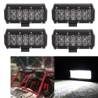 Spot 60W 12-LED White Offroad Car Light Bar - Black (10~30V / 4PCS)