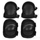 Military Tactical Knee and Elbow Pads Set - Black