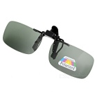 UV400 Protection Sunglasses Polarized Lenses - Black + Dark Green (S)