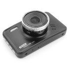 "120° HD 1080P CMOS 3.0"" TFT Car DVR with WDR Function - Black"