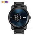 SKMEI Creative Rotary Dial Pointer Men's Watch - Black (1 * SR626SW)