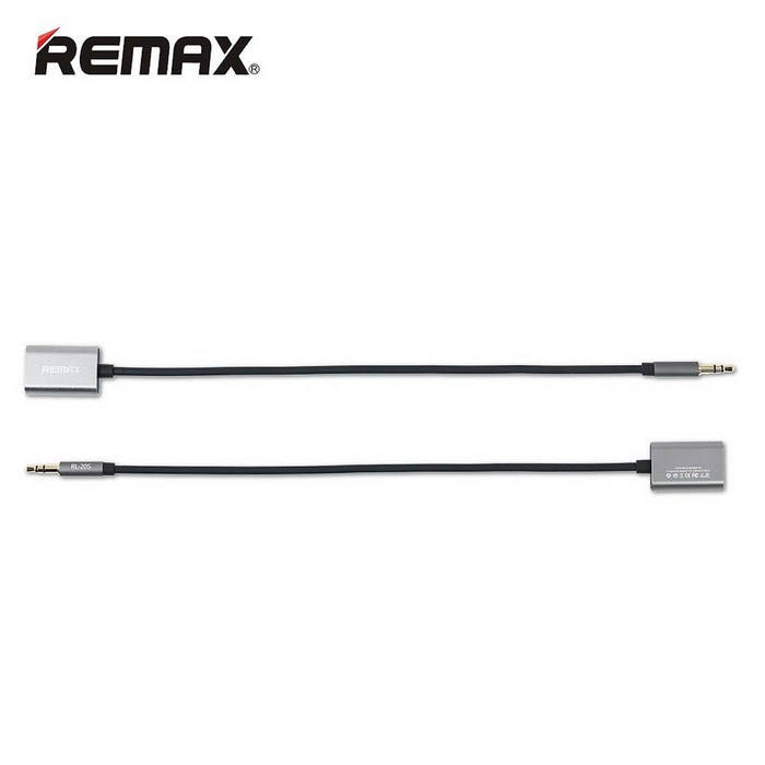 Remax RL-20S 3.5mm 1-a-2 Audio Cable Adapter - Gris (25 cm)