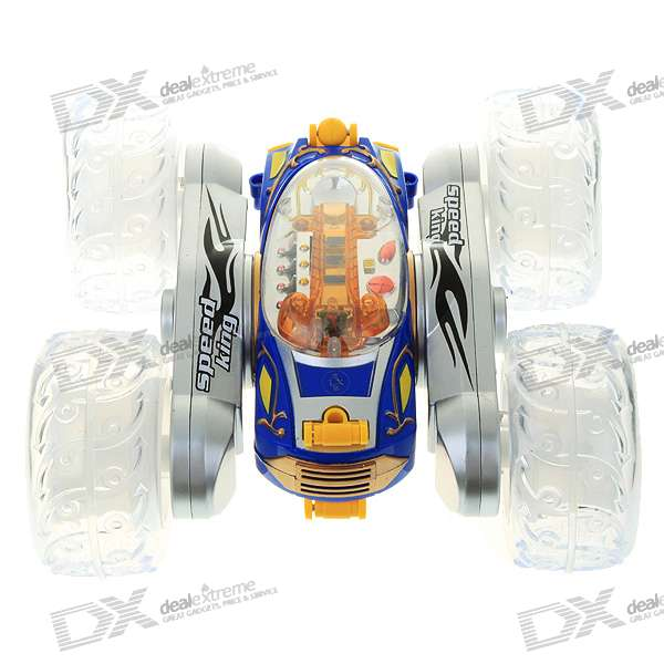 Rechargeable Hopping R/C Car Toy - Multi Color