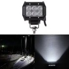 18W Flood Beam 1800lm White Working Light Bar - Black (DC10-30V)