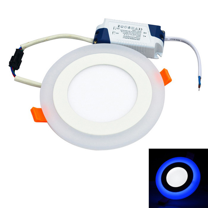 JIAWEN 9W Round LED Ceiling Light - White (AC 85~265V)