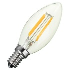 Marsing E14 4W Warm White Candle Bulb - White + Yellow (AC 220~240V)