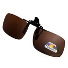 UV400 Protection Sunglasses Polarized Lenses - Black + Tawny (L)
