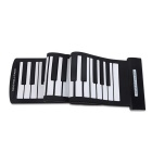 61 Keys Flexible Hand Roll USB Piano MIDI Electronic Keyboard - Black