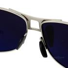 Men's Polarized Sunglasses - Black Lens Silver Frame