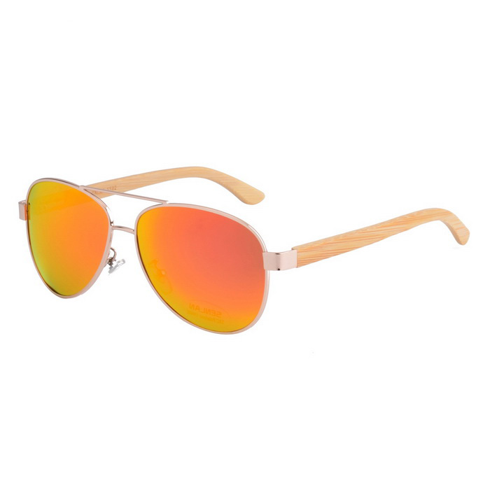 SENLAN 5502P1 Polarized Sunglasses - Golden + Red