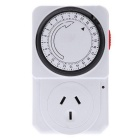 24-Hour Mechanical Electrical Plug Program Timer Power Switch - White