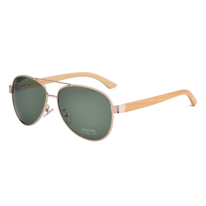 SENLAN 5502P4 Polarized Sunglasses - Gold + Dark Green