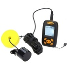 25ft Waterproof Sonar Sensor Sounder Fish Finder - Black + Yellow