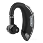 ZEALOT E1 Bluetooth V4.0 Ear-Hook Earphone - Black + Silver Black