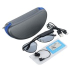 Gonbes K3-A Bluetooth Sunglasses + Music Earphone - Black