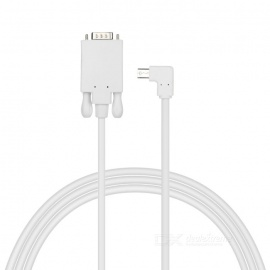 CY Mini DP Male to VGA RGB Male Adapter Cable - White (1.51m)