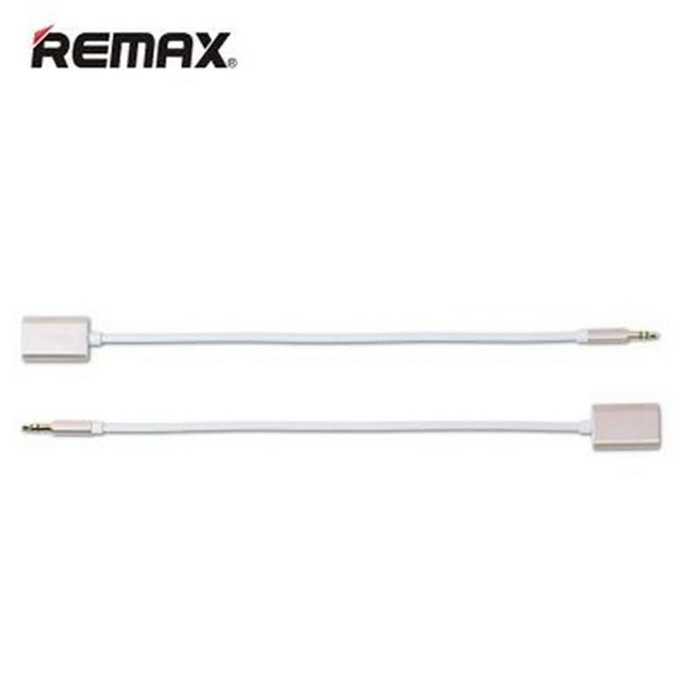Remax RL-S20 3.5mm 1-to-2 Audio Adapter Cable - Golden (25cm)