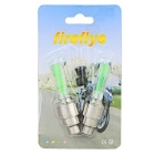 Bicycle Tyre Green Light  Air Valve Lamp - Silver + Green (2 Pcs)