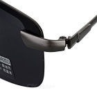 Men's UV400 Protection Polarized Sunglasses - Gun Black + Black