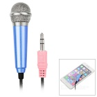 3.5mm Mini Microphone for Cellphone, Computer, Karaoke - Blue