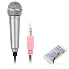 3.5mm Mini Microphone for Cellphone, Computer, Karaoke - Silver