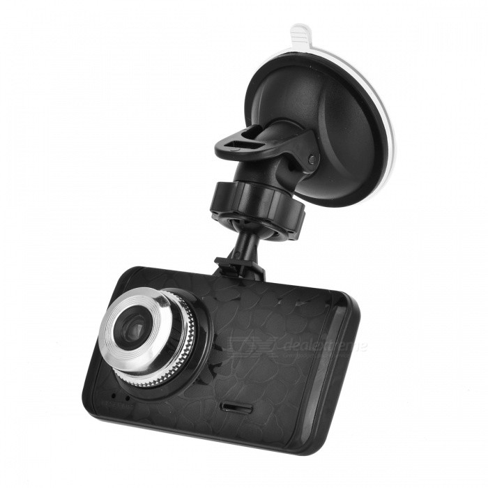 "2.4"" 720P Sunlus Chip Car DVR Camera Recorder - Black"
