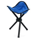 Outdoor Foldable Three-legged Stool for Fishing - Blue + Black