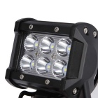 18W Spot Beam 1800lm White Working Light Bar - Black (DC 10-30V)