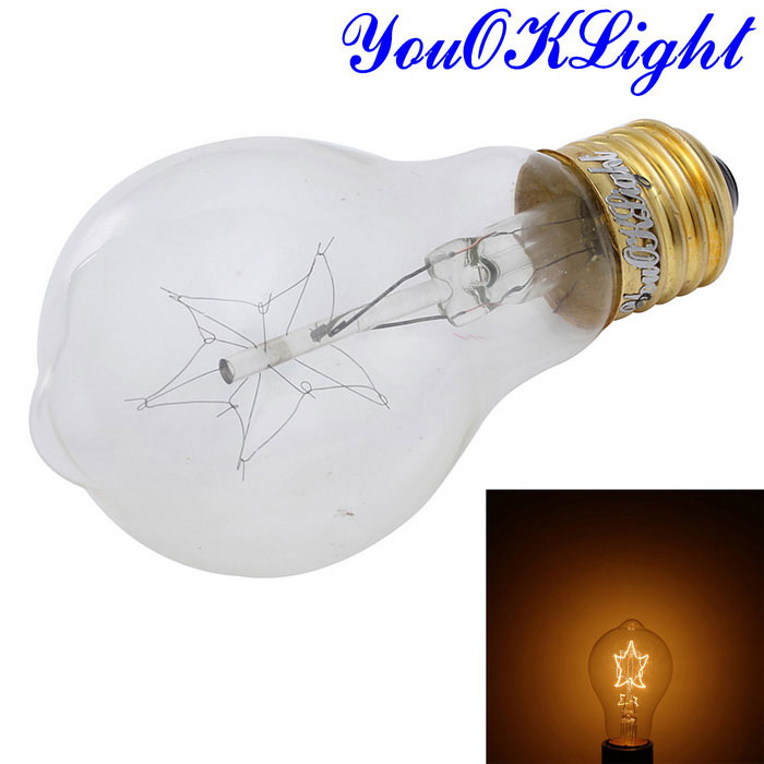 YouOKLight E27 40W Warm White Tungsten Filament Bulb - Transparent