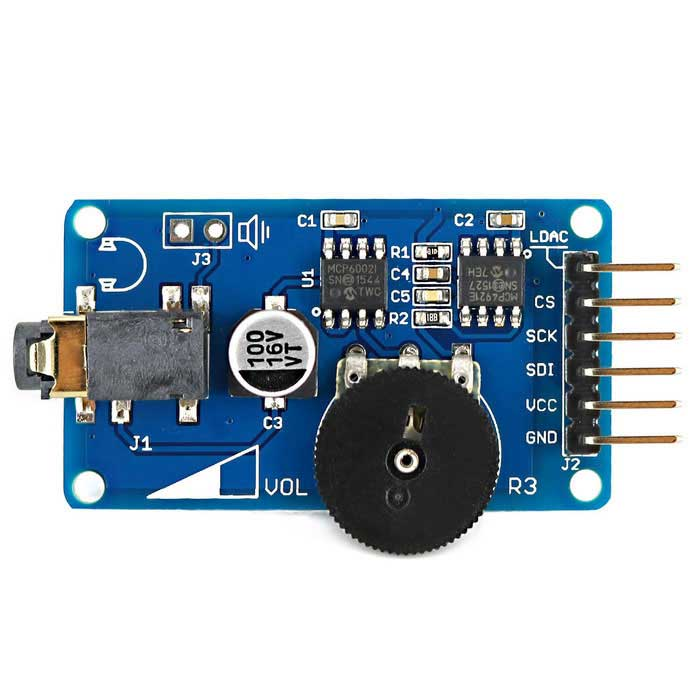 OPEN-SMART Wav Music Player Module de diffusion vocale pour Arduino - Bleu