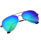 SENLAN 1852 Men's UV400 Protective Sunglasses - Gun Color + Green