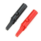 BSIDE C27259 Push Button Type Protective Alligator Clips - Red + Black