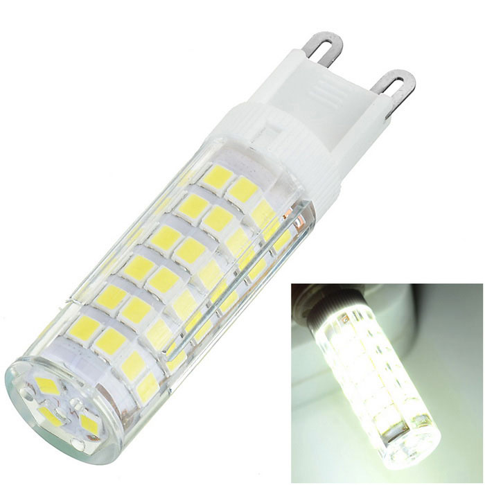 G9 7W 700lm Cold White Light Corn Lamp Bulb - White + YellowG9<br>Form  ColorWhite + Yellow + Multi-ColoredColor BINCold WhiteMaterialCeramic + PCQuantity1 DX.PCM.Model.AttributeModel.UnitPower7WRated VoltageAC 220 DX.PCM.Model.AttributeModel.UnitConnector TypeG9Chip BrandOthers,-Chip TypeLEDEmitter TypeOthers,SMD 2835Total Emitters75Actual Lumens600-700 DX.PCM.Model.AttributeModel.UnitColor Temperature6500KDimmableNoBeam Angle360 DX.PCM.Model.AttributeModel.UnitCertificationCE, RoHSPacking List1 x LED Bulb<br>