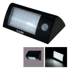5.5V 1.8W 28-LED Solar Power PIR Motion Sensor Light - White + Black