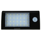 5.5V 1.8W 28-LED Energia Solar PIR Motion Sensor Light - Branco + Preto