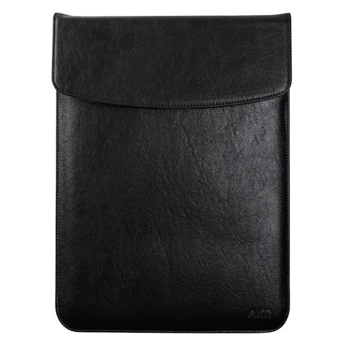 "Protective PU Leather Inner Bag Case for MACBOOK AIR 11.6"" - Black"
