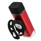 USB Charging Bicycle White Light Safty Front Lamp with Holder - Red