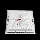 25W Warm White Square Grille LED Ceiling Light - White (AC 85~265V)