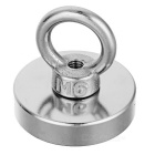 D40*10mm NdFeB Eyebolt Circular Ring Magnet for Salvage - Silver