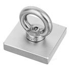 45*45*10mm NdFeB Eyebolt Circular Ring Magnet for Salvage - Silver