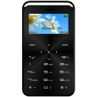GT GS6 Slim Mini Bluetooth GSM Phone w/ TF Card Slot & FM - Black