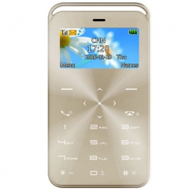 GT GS6 Slim Mini Bluetooth GSM Phone w/ TF Slot & FM - Champagne Gold