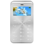 GT GS6 Slim Mini Bluetooth GSM Phone w/ TF Card Slot & FM - Silver