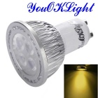 YouOKLight GU10 4W LED Spotlight Warm White Lamp - Silver (AC 85-265V)