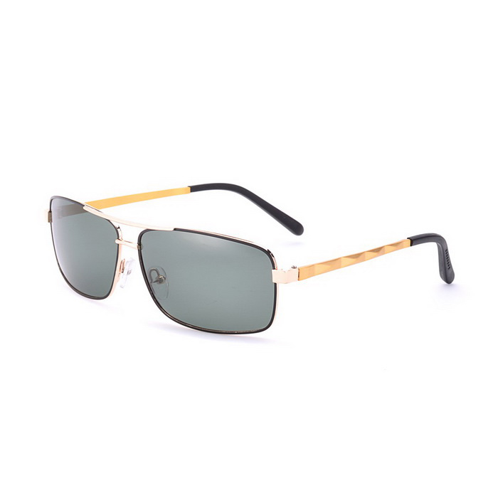 SENLAN 5044P1 Men's Polarized Sunglasses - Golden + Black + Dark Green