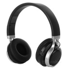 Bluetooth Headphone Music Headset with LED Flash, FM - Black + Silver