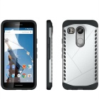 Protective Plastic + TPU Back Case for LG Nexus 5X - Black + Silver