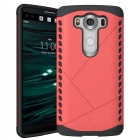 Protective Plastic Back Case for LG V10 - Red